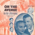 Vintage I've Got My Love To Keep Me Warm Sheet Music Irving Berlin Inc.