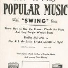 Vintage Winn's How To Play Popular Music With Swing Bass Instruction Book 1