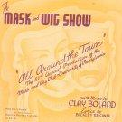 Vintage Ya Got Me Sheet Music Mask & Wig Club Pennsylvania