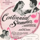 Vintage All Through The Day Centennial Summer Sheet Music Williamson Music Inc.