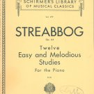 Vintage Streabbog Op. 64 Schirmer's Library Of Musical Classics Vol. 479 Piano