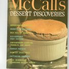 Vintage McCall's Dessert Discoveries Cookbook M7 1972 Edition McCalls Mc Calls