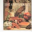 Vintage McCall's Index & Recipe Reminder 1972 Edition McCalls Mc Calls