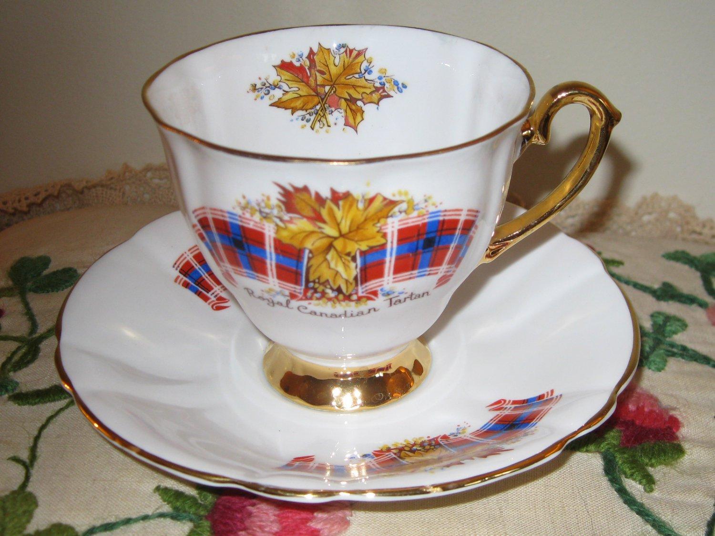 Windsor Royal Canadian Tartan Cup & Saucer Bone China England