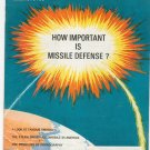 Vintage The American Legion Magazine August 1969 How Important Is Missile Defense