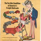 Vintage The American Legion Magazine December 1971 The Terrible Condition Freight Railroads