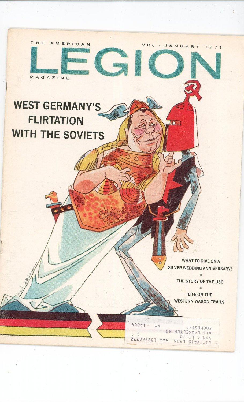 Vintage The American Legion Magazine January 1971 West Germany's Flirtation With The Soviets