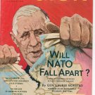 Vintage The American Legion Magazine September 1966 Will NATO Fall Apart