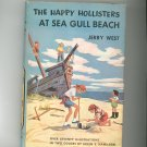 Vintage The Happy Hollisters At Sea Gull Beach Jerry West Hard Cover Dust Jacket