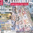 McCall's Quilting Magazine Back Issue April  2001