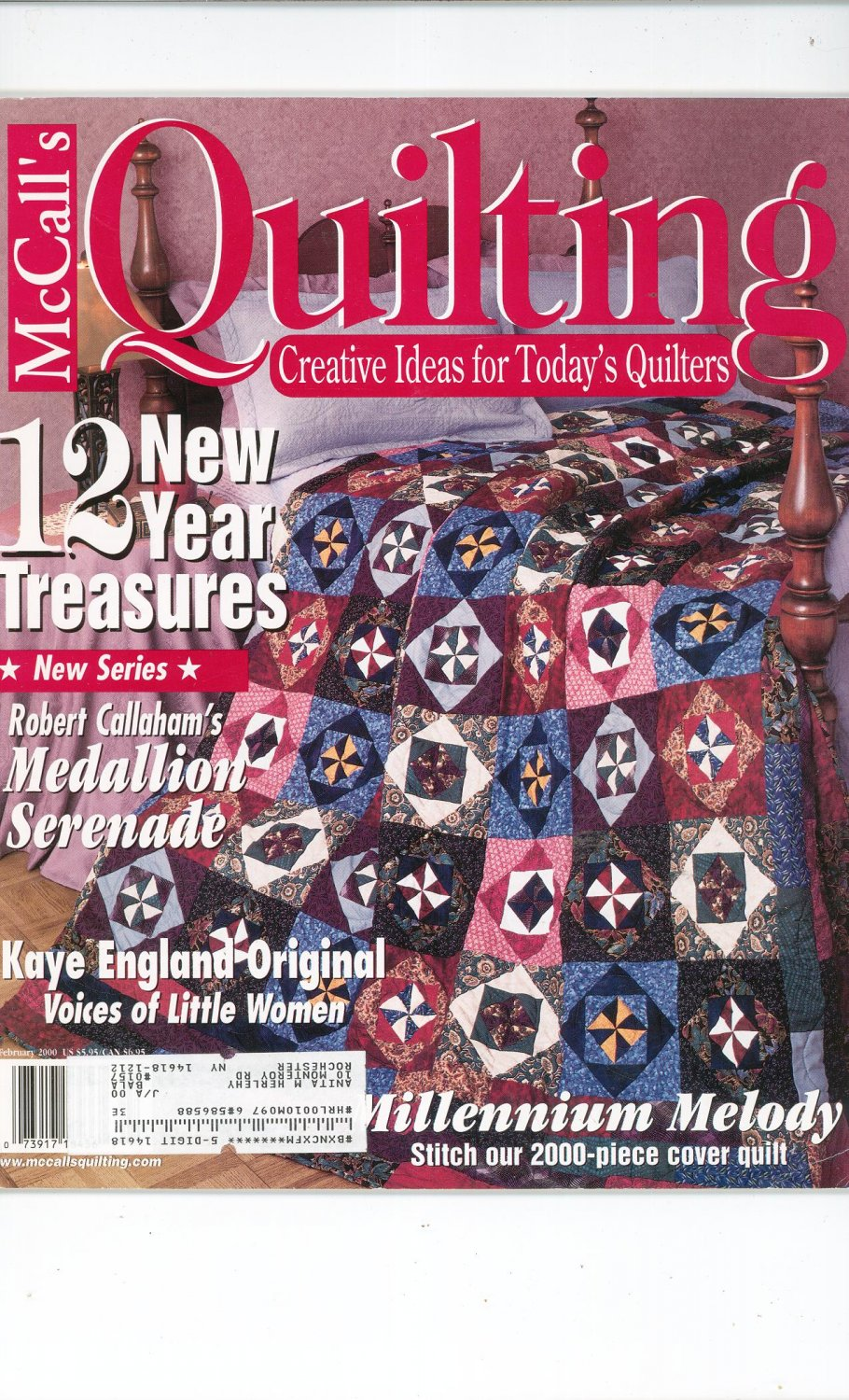 McCall's Quilting Magazine Back Issue February  2000