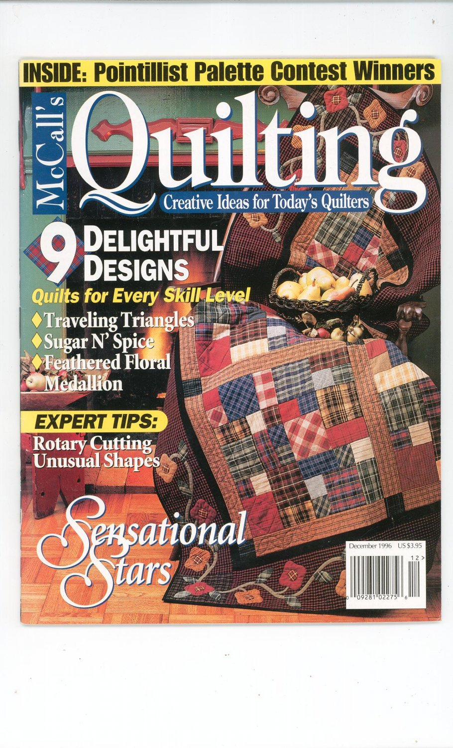McCall's Quilting Magazine Back Issue December 1996