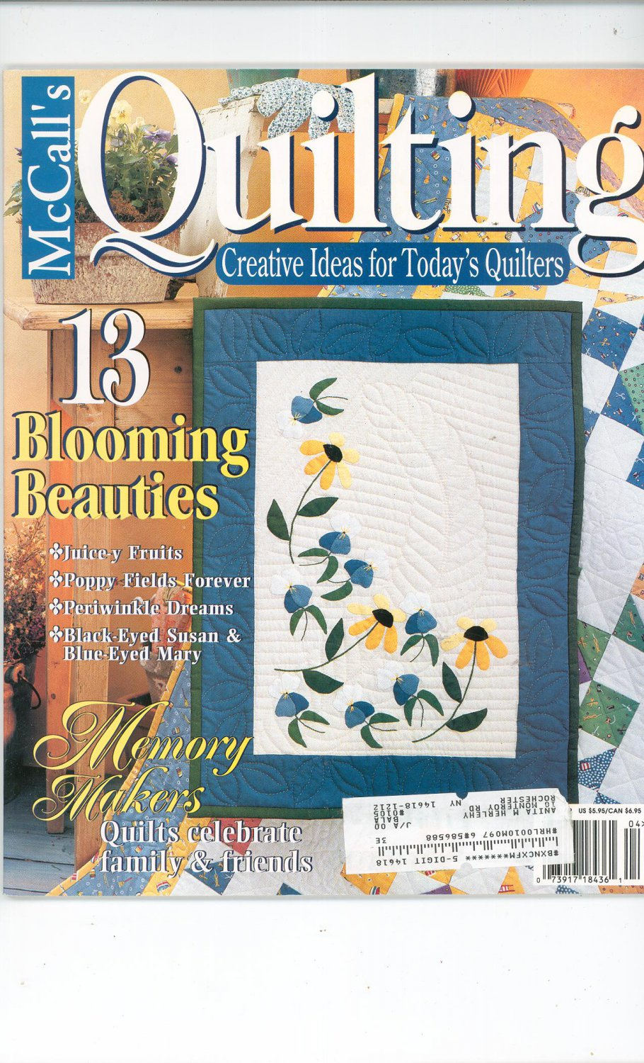 McCall's Quilting Magazine Back Issue April 1999