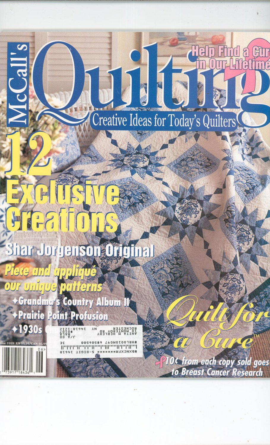 McCall's Quilting Magazine Back Issue June 1999