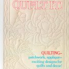 McCall's How To Quilt It Vintage  1973