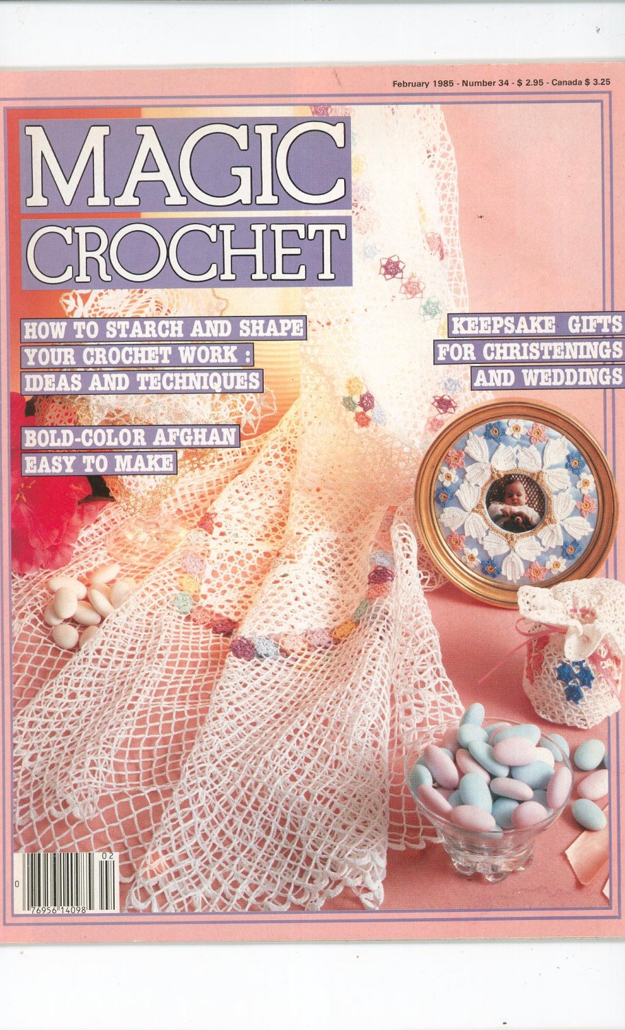 Magic Crochet Number 34 February 1985 Tricot Selection