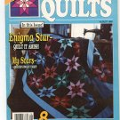Stitch N Sew Quilts Back Issue August 1988  25 Star Patterns