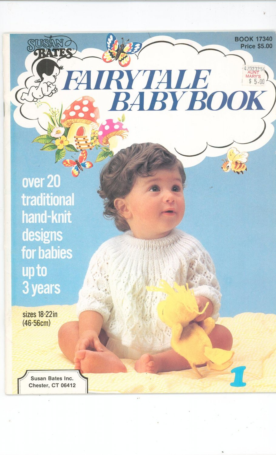 Fairytale Baby Book Susan Bates 17340 Traditional Hand Knit