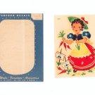 Nice Vintage Set Of 2 Meyercord Decals Style 862-B Girl In Garden Miss Muffet ?
