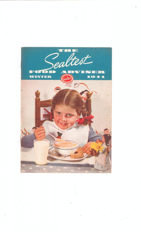 The Sealtest Food Adviser Winter 1941 Cookbook Vintage