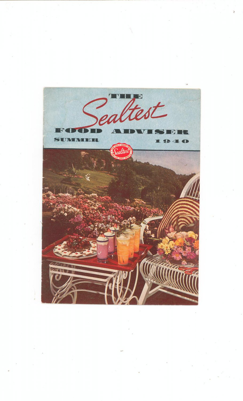 The Sealtest Food Adviser Summer 1940 Cookbook Vintage