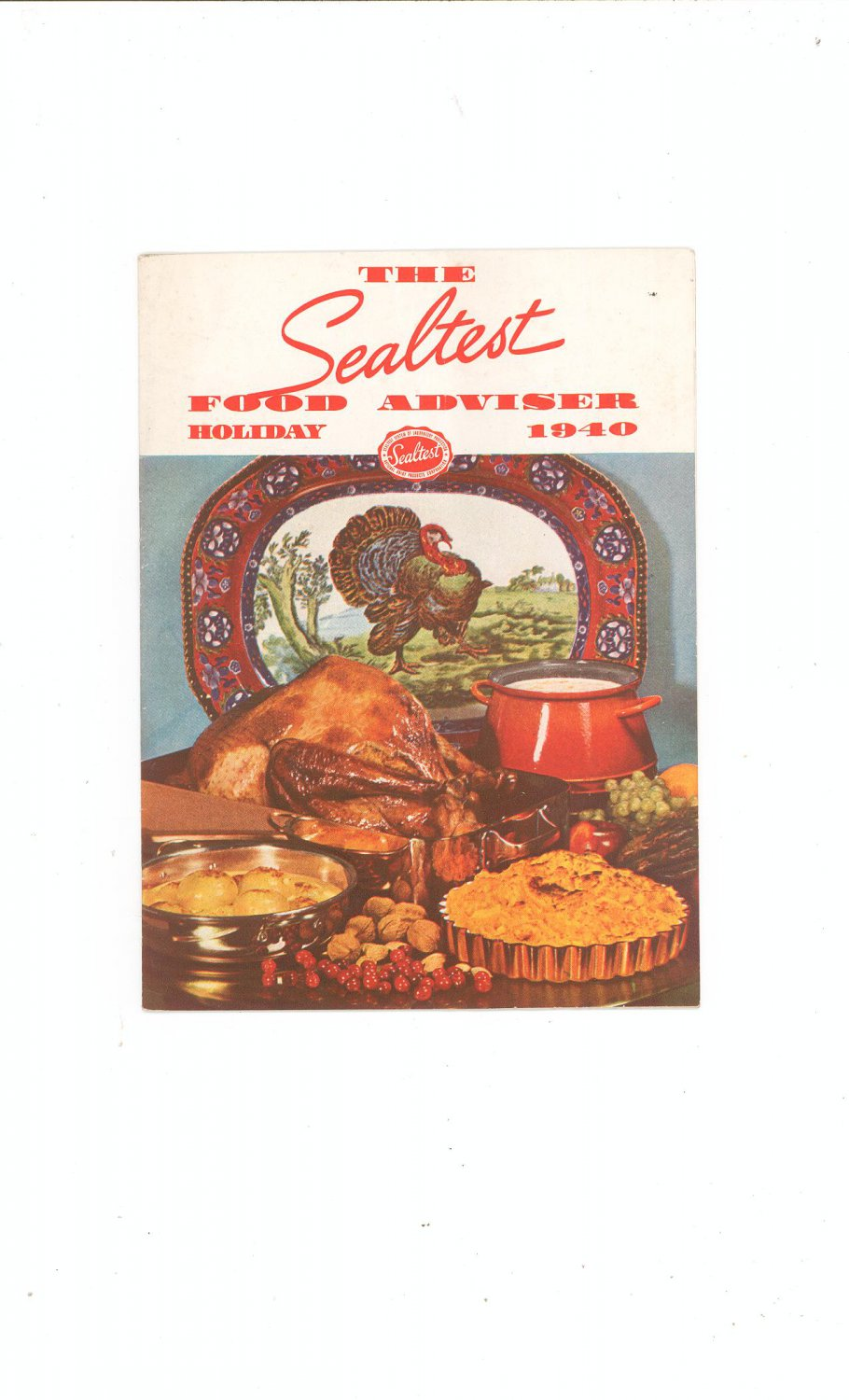 The Sealtest Food Adviser Holiday 1940 Cookbook Vintage