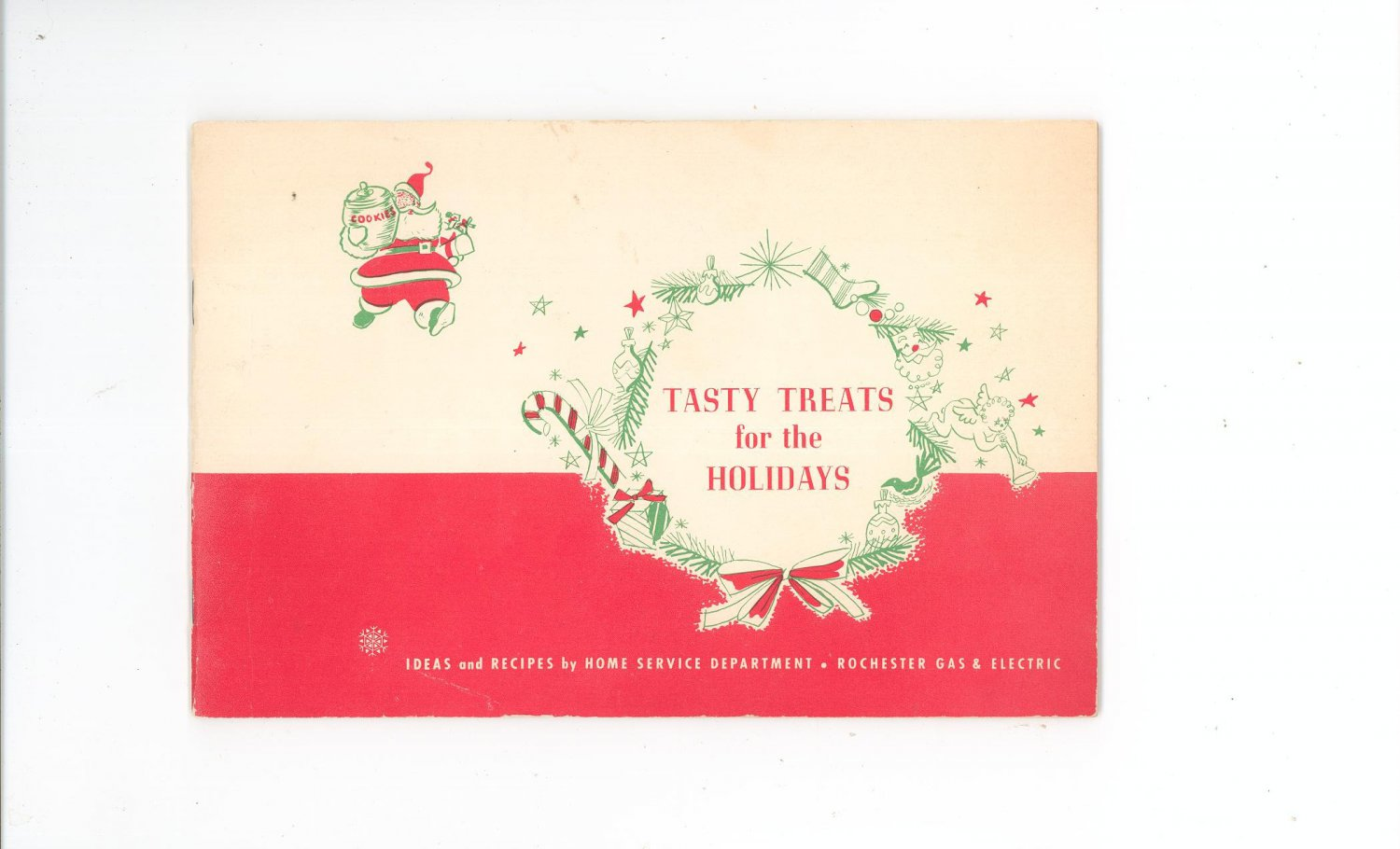 Tasty Treats For The Holidays Cookbook by Rochester Gas & Electric Company Vintage Regional New York