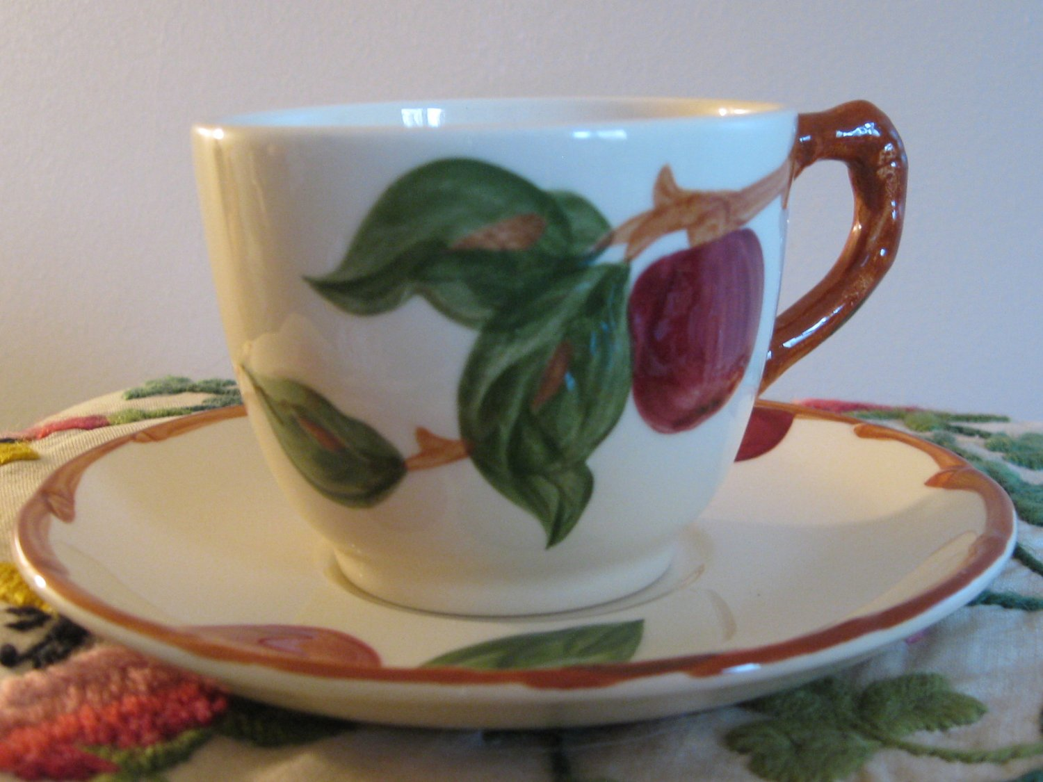 Franciscan Apple Cup & Saucer USA