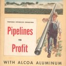 Vintage Catalog / Brochure  Sprinkler Irrigation Pipelines To Profit Alcoa Aluminum 1950