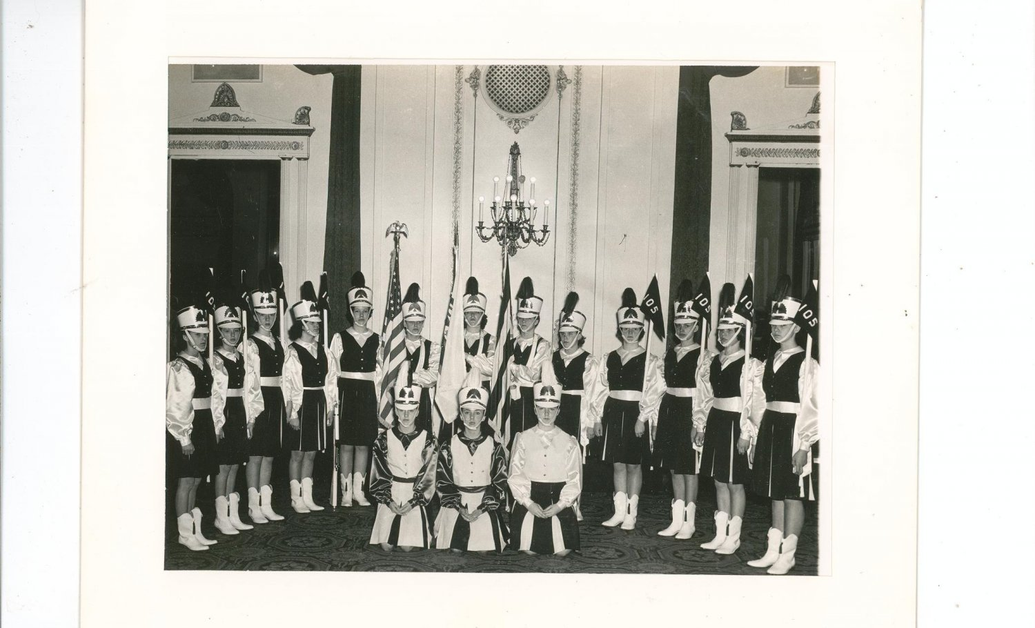 Vintage B&W Marching Band Photo Empire Room The Palmer House A Hilton Hotel