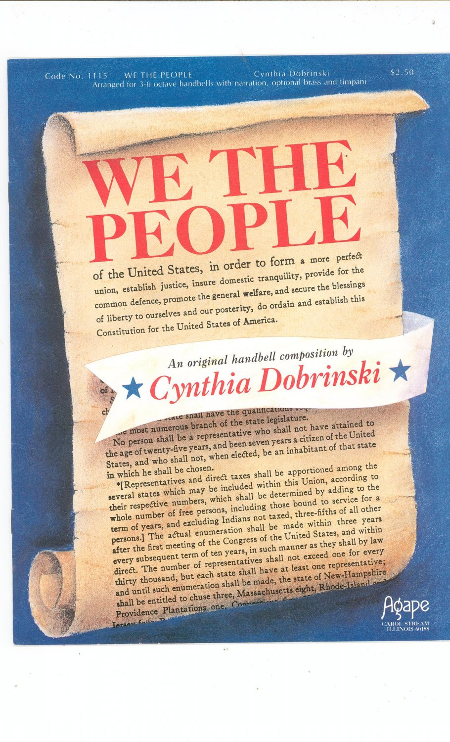 We The People By Cynthia Dobrinski Handbell Composition