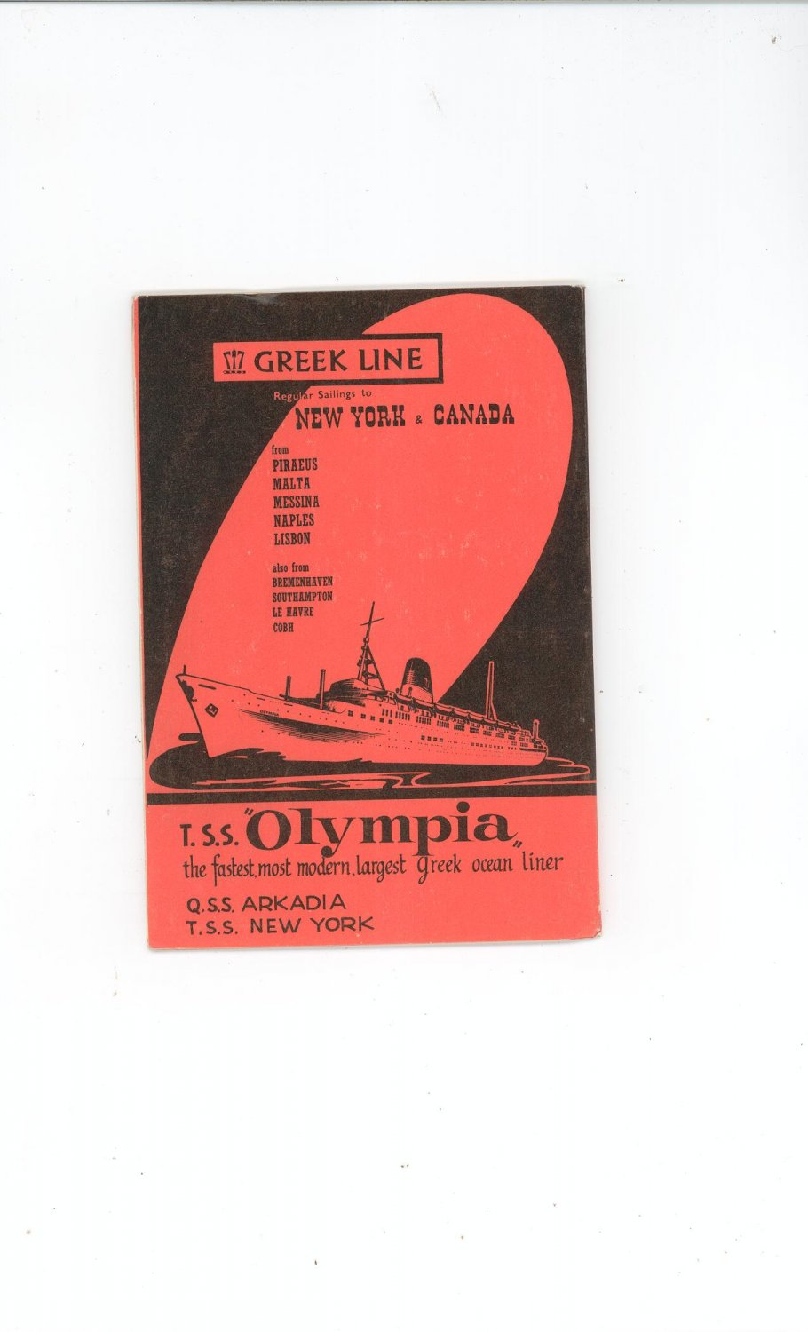 Vintage Greek Line Welcome You To Greece Lion Guide With Advertisements
