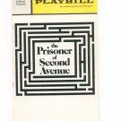 Playbill The Prisoner Of Second Avenue Eugene O'Neill  Theatre Souvenir