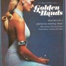Golden Hands Part 13 Machine Knit Glamorous Evening Dress Tatting Rings Borders  Vintage