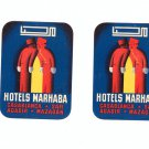 Lot Of 2 Vintage Luggage Tag Hotels Marhaba Casablanca Safi Agadir Mazagan