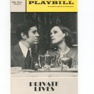 Vintage Playbill Private Lives Billy Rose Theatre Souvenir 1970