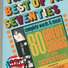 The Best Of The Seventies Complete Words & Music 1976 Edition Piano Vocal Guitar