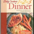 Betty Crocker's 1 2 3 Dinner Cookbook 1579545238