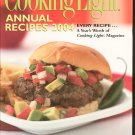 Cooking Light Annual Recipes 2004 Cookbook 0848726324 Hard Cover