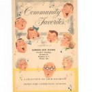 Vintage Community Favorites Song Book Promotional Give Away By Esso