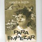 Vintage Para Empezar By Concha Lagos Poems In Spanish