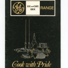 General Electric GE Range Manual Model J470 J342 J360