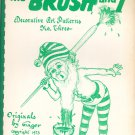 Vintage The Brush And I Number 3 Art Patterns By Ginger Roth Dora Lea Hilton 1973