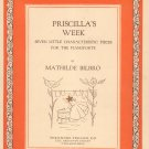 Vintage Priscilla's Week Seven Characteristic Pieces Pianoforte Bilbro T. Presser Co.