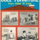Easy To Make Doll Furniture From Odds N Ends Pack o Fun Vintage 1975