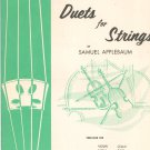 Vintage Duets For Strings By Samuel Applebaum Belwin Book One Violin