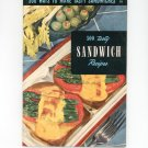 Vintage 500 Tasty Sandwich Recipes Cookbook Culinary Arts Encyclopedia Of Cooking 14 1954