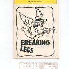 Playbill Breaking Legs With Ticket Stub Promenade Theatre Souvenir Program 1992