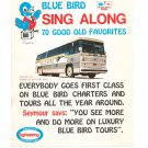 Vintage Blue Bird Sing Along Song Pamphlet Advertising Blue Bird Bus Company 1973