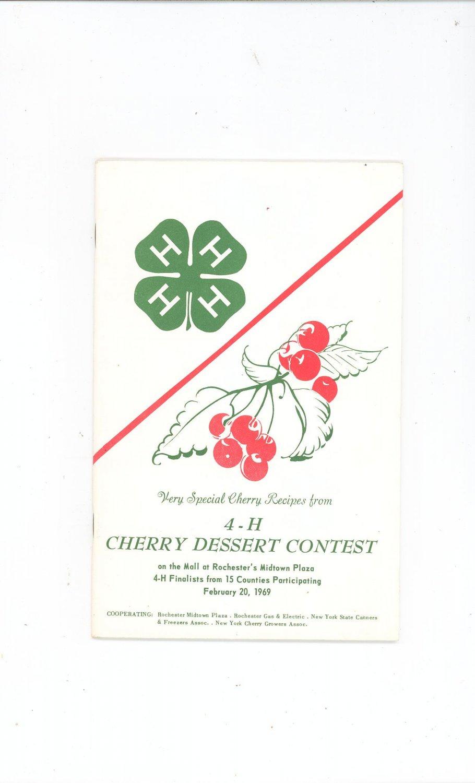 Vintage 4-H Very Special Cherry Recipes Rochester NY 1969